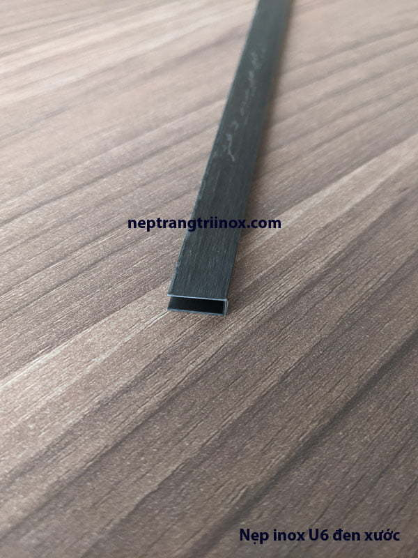 Hình ảnh nẹp inox U6 đen xước