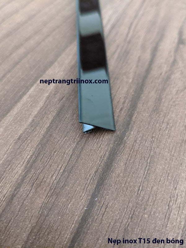 Hình ảnh nẹp inox T15 màu đen bóng