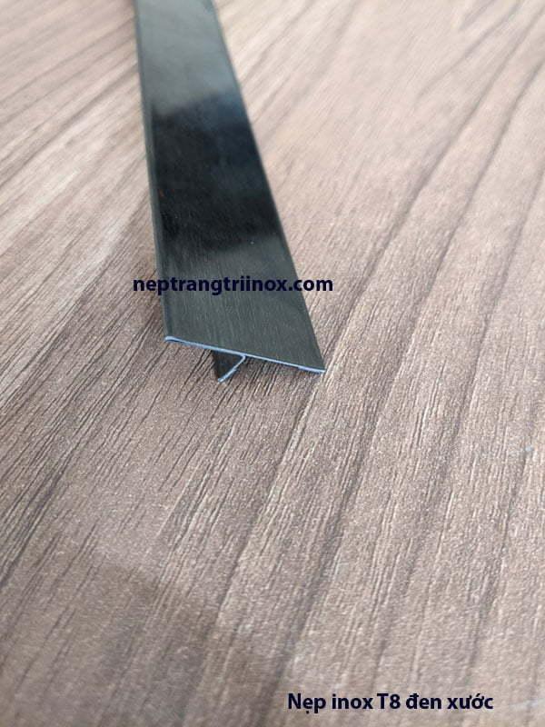 Hình ảnh nẹp inox T25 màu đen xước 02