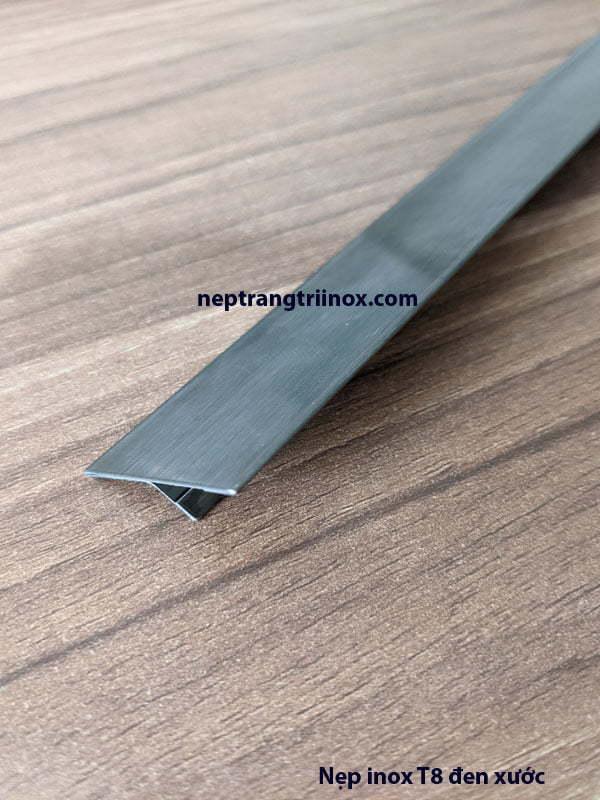 Hình ảnh nẹp inox T25 màu đen xước 01